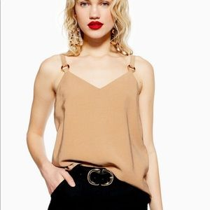 TopShop Brown top with ring detailing